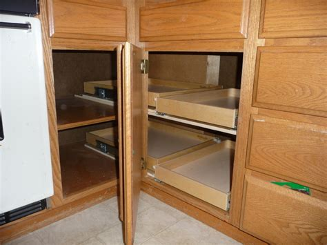 kitchen cabinets corner solutions shelfgenie diy crafts
