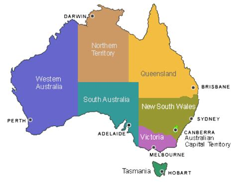 map of australia with territories map of australia with states and territories and capital