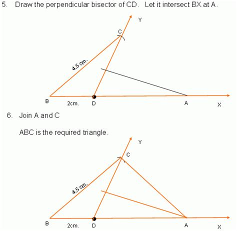 Construction Worksheets Geometry by Construction Of Triangle Vii High School Mathematics