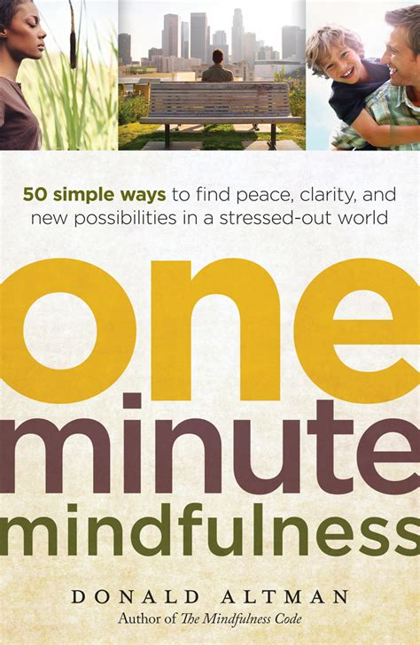 One Minute Mindfulness Book Giveaway And One Minute Mindfulness