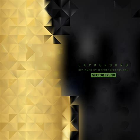 abstract black gold background template