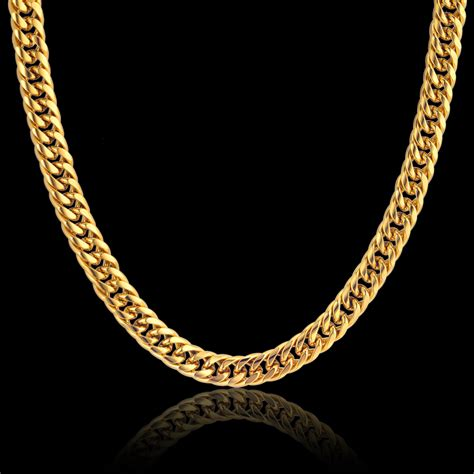 gold chain collar aliexpress buy gold color stainless steel collar necklace 8mm rock mens gold