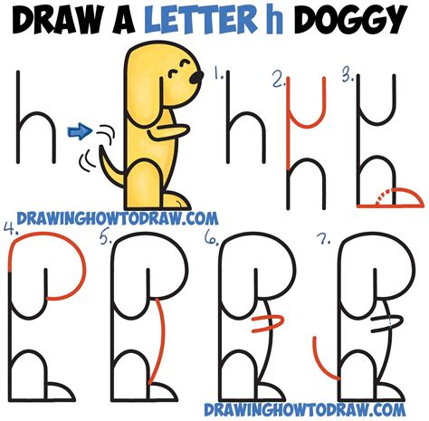Letter H Drawing by How To Draw A Begging From 2 Letter H Shapes