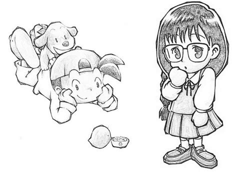 harvest moon coloring page coloring page harvest moon 6