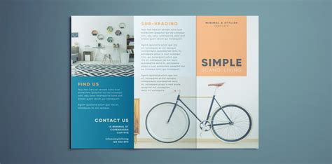 Simple Tri Fold Brochure Free Indesign Template Free Simple Brochure Templates