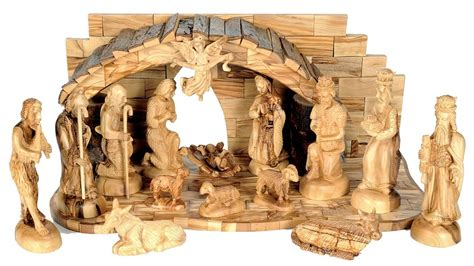 unique large indoor nativity set holy land treasures
