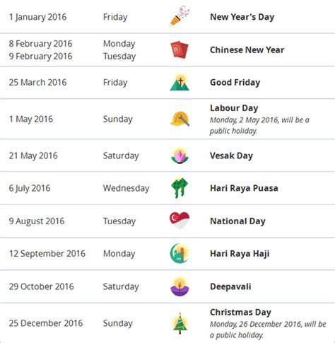 Calendar 2016 Holidays Singapore Search Results For 2016 Holidays Singapore