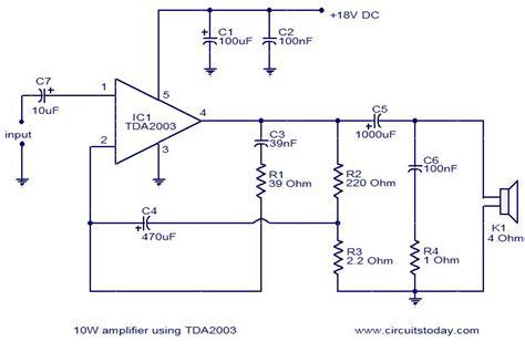 Ic Tda2003 Ic Tda 2003 Aj02 gt 10w lifier using tda2003 today s circuits