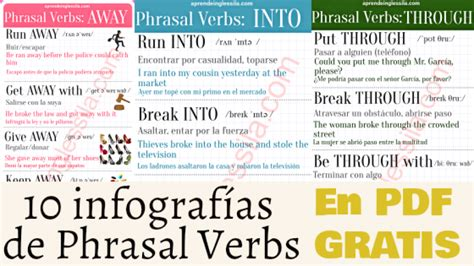 10 phrasal verbs with back with meaning and exles 10 infograf 237 as de phrasal verbs pdf gratis aprende