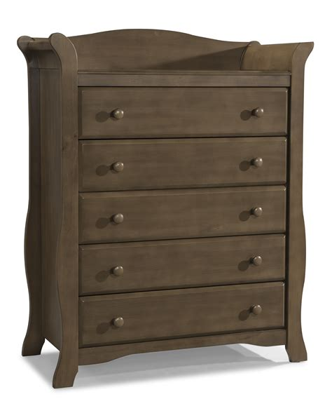 stork craft armoire storkcraft avalon 5 drawer dresser dove brown baby