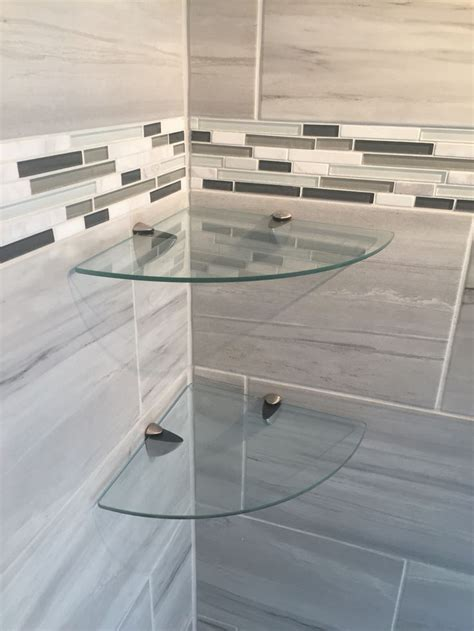 glass corner shelves for bathroom best 25 shower shelves ideas on shower