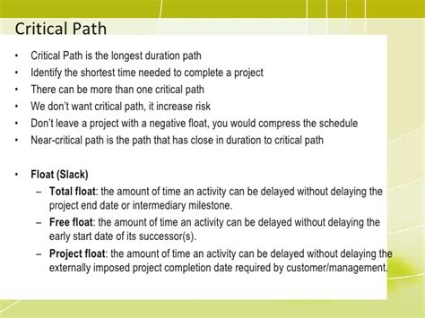 critical path event planning templates pmp 06 project time management2