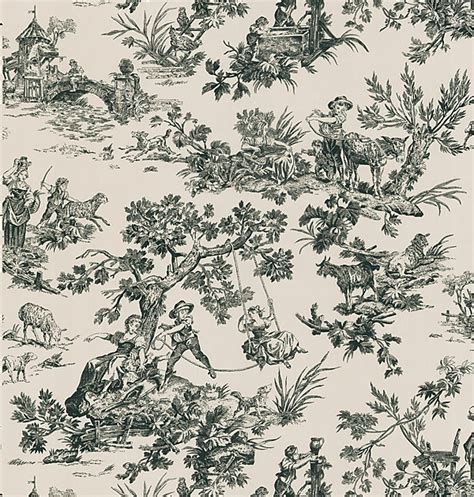 black and white toile wallpaper bathroom bathroom wallpaper brewster wallcovering blog