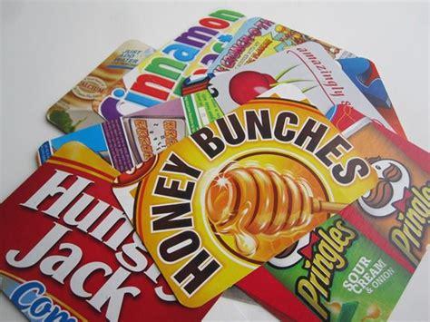Silhoette Cameo Bekas cereal box postcard