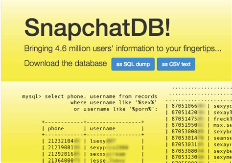 How Do You Find Out Peoples Snapchat Names Hackers Leak 4 6m Snapchat Usernames And Phone Numbers See If You Ve Been Affected