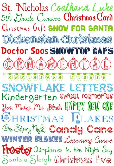 Printable Christmas Fonts | 9 downloadable christmas fonts images merry christmas