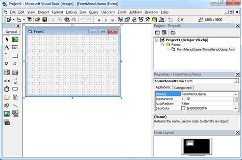 belajar membuat form pada html membuat menu utama vb 6 0 aplikasi penjualan belajar