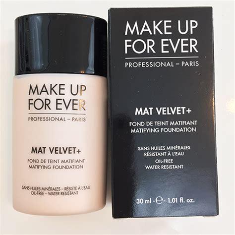 make up forever mat velvet foundation review