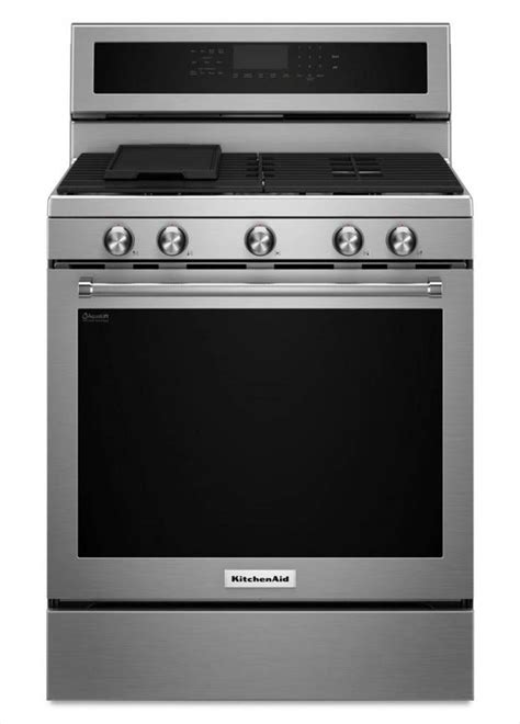 kitchenaid 30 in 5 8 cu ft gas range with self cleaning