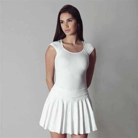 pleated tennis skirt dressed up