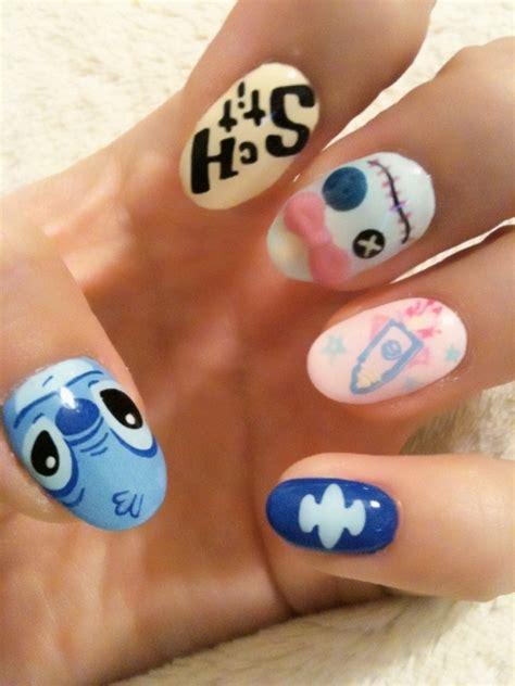 tutorial nail art stitch stitch nails 1 3 tokyo otaku mode gallery