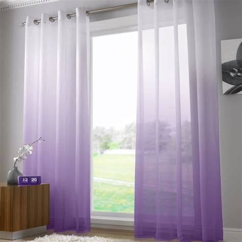 washing voile curtains harmony purple voile curtain panel ring top