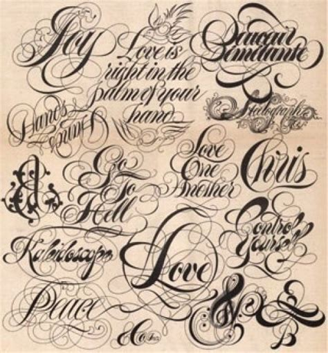 tattoo fonts names cursive the of choosing the font and lettering for a