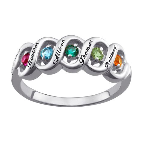 Birthstone Rings by Affordable S Rings Personalized Rings For