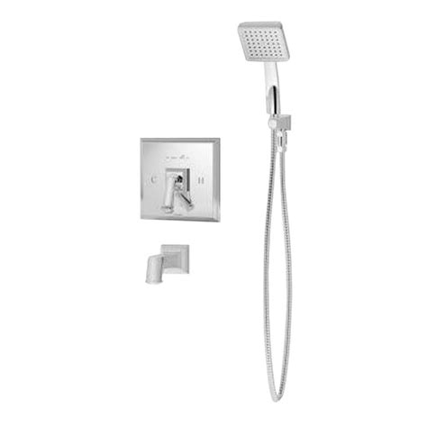 symmons oxford single handle shower faucet satin nickel