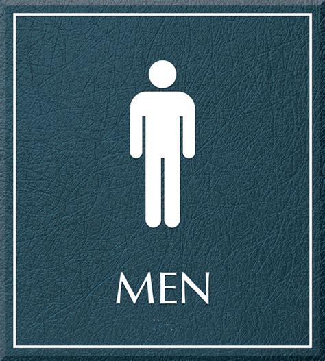 man bathroom sign restroom signs men