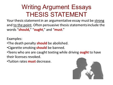 writing thesis ch 11 reading and writing argument essays ppt