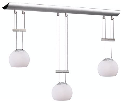 Standard Height For Pendant Lights Dainolite Dlsl833 Wh Sc 3 Light Horizontal Adjustable Height Pendant Contemporary Pendant
