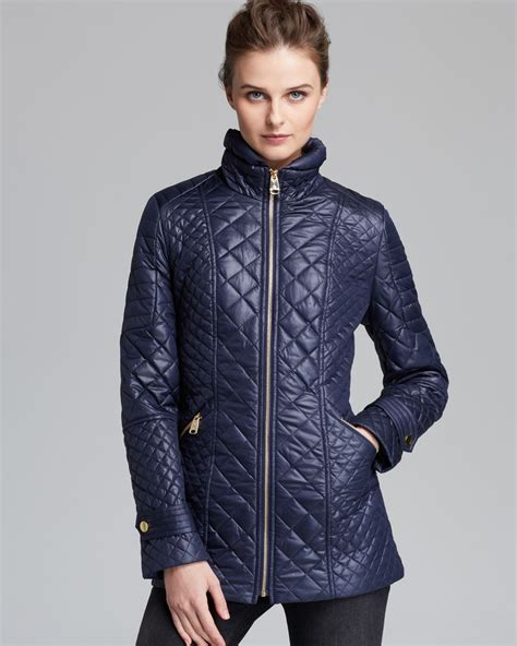 Via Spiga Jacket For by Lyst Via Spiga Coat Quilted In Blue