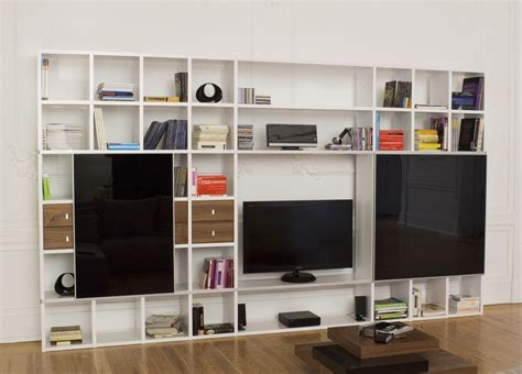 pombal bookcase tv unit with black doors bookcases