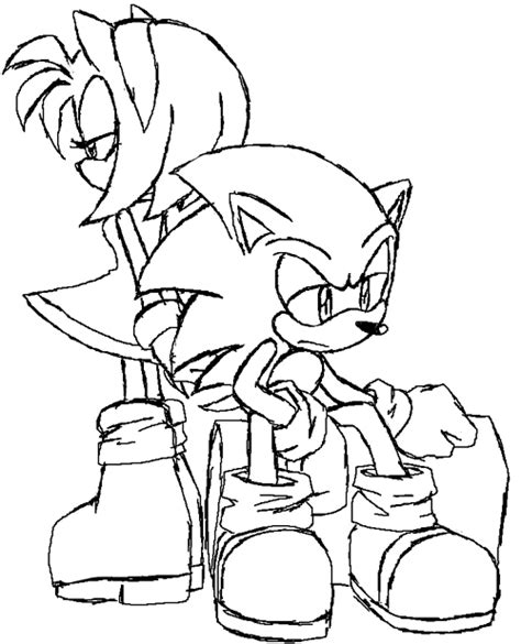 sonic channel amy coloring pages