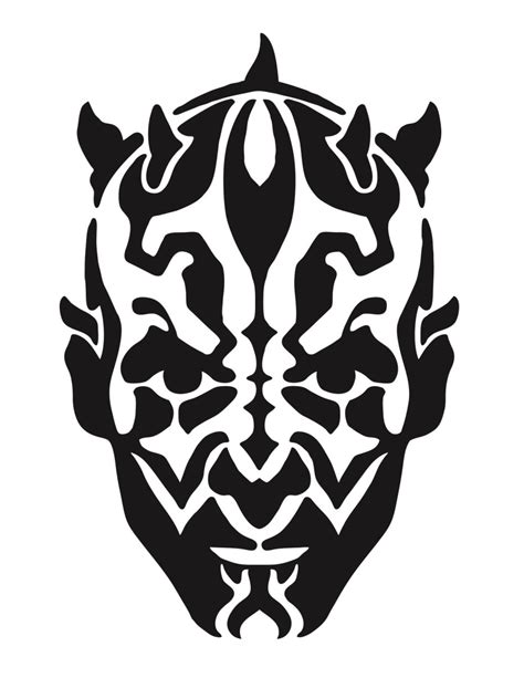 darth maul template image gallery wars stencils