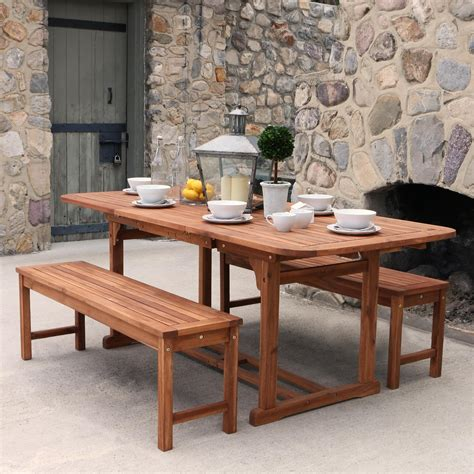 Acacia Wood Outdoor Furniture by We Furniture Solid Acacia Wood Patio Bench