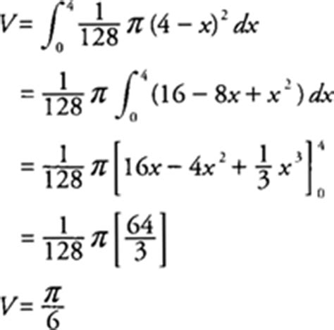cross sections calculus formulas volumes of solids with known cross sections