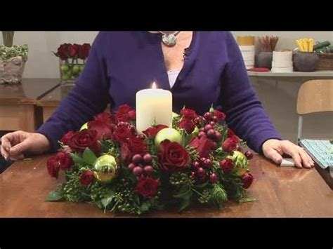 how to design christmas candle centerpieces youtube