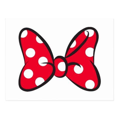 minnie bow template trendy minnie polka dot bow postcard zazzle