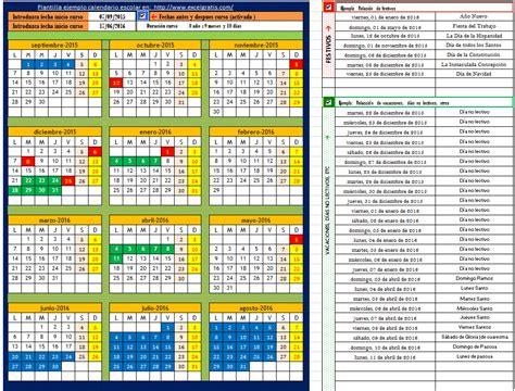 Ejemplos De Calendarios Plantilla Calendario Escolar De Cualquier A 241 O 1