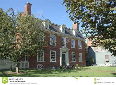 colonial brick homes colonial historic brick house stock photo image 269770