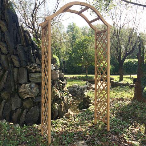 backyard arch garden arch wooden pergola feature trellis rose archway