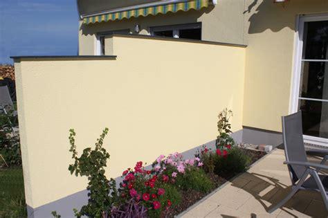 sichtschutzwand terrasse sichtschutz bau und montagefirma