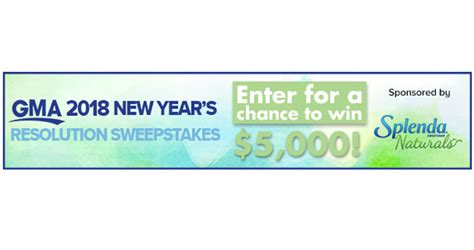 Gma Sweepstakes - good morning america 2018 new year s resolutions sweepstakes