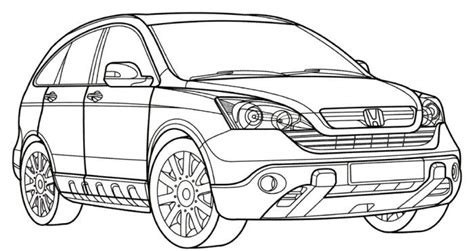 coloring book cr honda cr v coloring page stuff