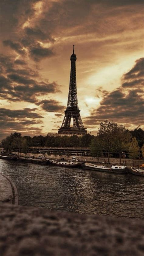 wallpaper for iphone 6 eiffel tower france eiffel tower city storm skyscape iphone 6 plus