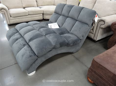 two person chaise lounge costco cozy emerald home boylston fabric chaise costco
