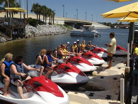wave rentals pontoon tours shell island family wave runner tours picture of shell
