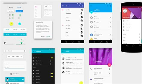 Free Material Design Gui Templates Icon Sets Idevie Android App Templates For Android Studio Free